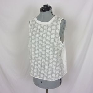 A New Day Blouse 3D Flowers L Ivory